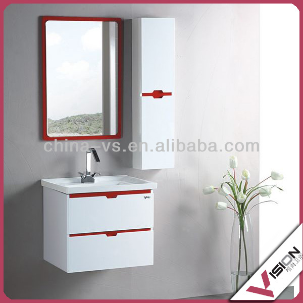 MDF/Chipboard Bathroom Cabinets, High Glossy/Melamine/Painting Bathroom Vanity
