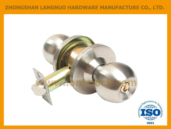 2017 South America Sales Stainless steel Entrance Cylindrical knob lock