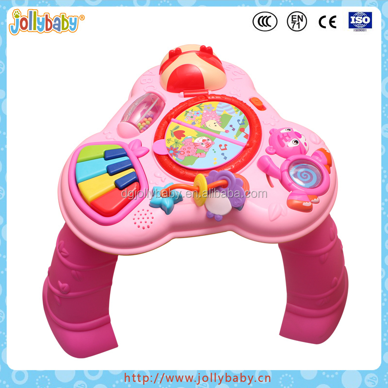 Australlian Jollybaby Plastic Musical And Baby Funny Educational Multi Function bilingual Kids Toys Learning Desk