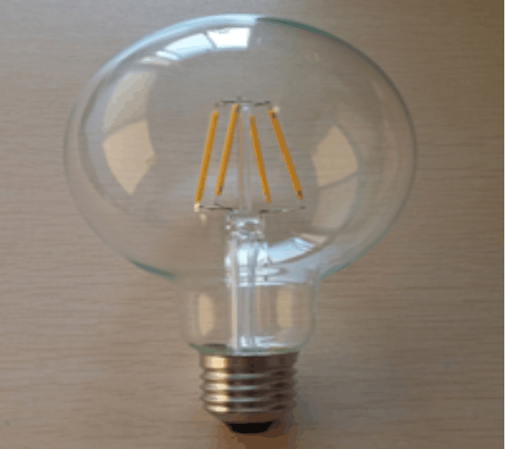 Ctorch G95 4w e27 led filament light bulb with cool white