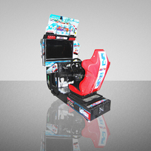 "Outrun (single) - 32""LCD Amusement Arcade Simulator Video Game Driving Car Racing Machine"