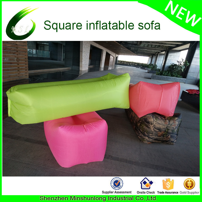 High Quality Portable Lightweight air lounger Outdoor Sleeping Air bag inflatable banana air bed