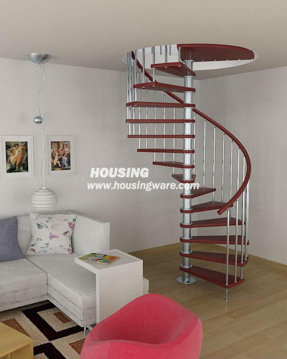 Modernes haus treppe in rote spirale staricase treppe produkt id 1226943734 - Dimensiones escalera caracol ...