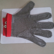 Stainless Steel 304 Butcher Cut Proof Safety Gloves