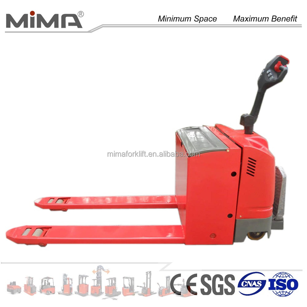 CHINA Electric pallet truck jack 4000kg lifting height 200mm with CE