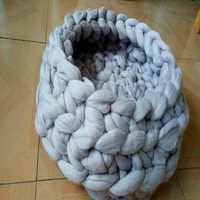 factory direct sale best selling cheap Cat Bed Crochet Wool Chunky Yarn