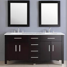 Double basin bathroom vanity /bathroom corner cabinet/modern bathroom vanity