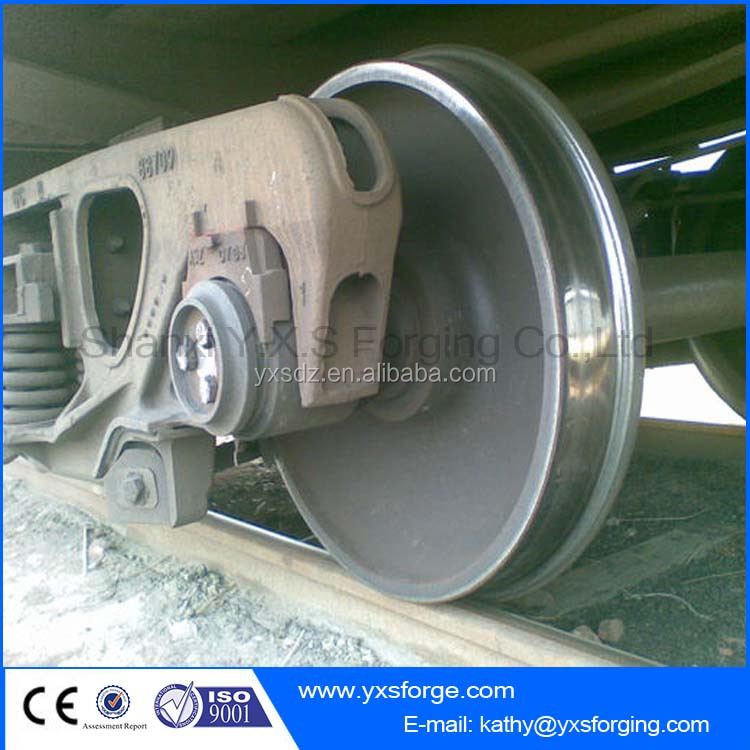 Railway wheelset/Standard Forged steel ore cart wheel set/train wheel