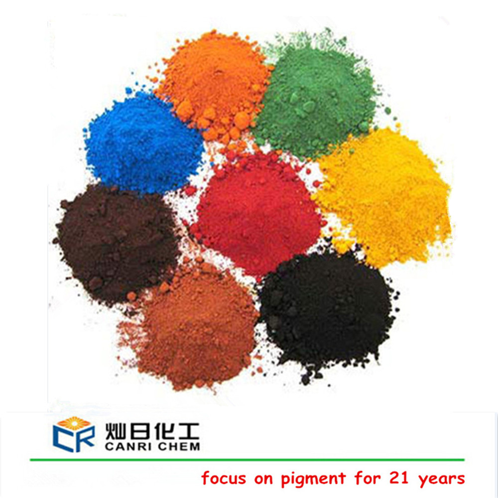 cement concrete pigment iron oxide color powder coating