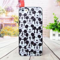 Beauty Mickey Head Custom Hard Plastic Case Cover For Apple iphone 4/4s 5/5s 5c 6 4.7 inch and 6 plus