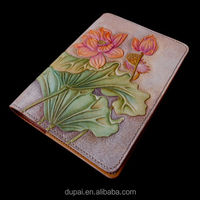 Personalized Leather Carving Journal With Beautiful