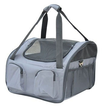 41Lx34Wx30H cm Pets Booster Car Seat Carrier Folding Bag - Grey