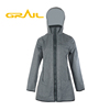 High quality breathable outside plain rain women waterproof jacket