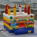 Factory high quality inflatable birthday cake bouncer A1103