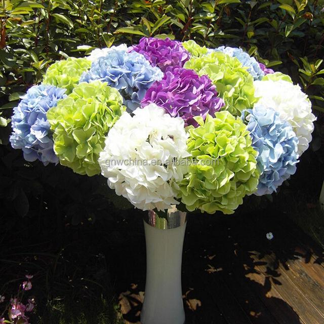 GNW FL-HY88-22CM Fake Hydrangea Artificial Flowers Arrangements In Vase