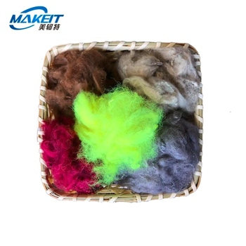 Makeit colored good dacron Recycled polyester staple fibers for non-woven