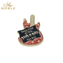 New Design Custom Music Prize Color Guitar Shape Medal Gifts