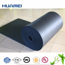 Heat resistant flexible rubber and plastic thermal insulation sheet