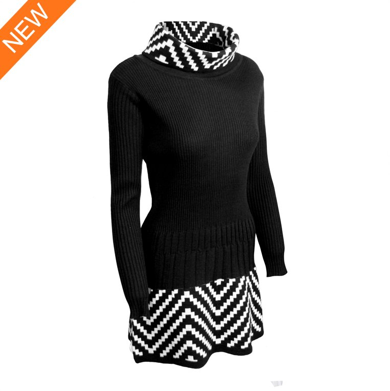 2015 lastest design fashion 100% cashmere turtleneck pullover dresses for women
