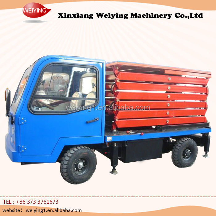 electric high lifting platform truck