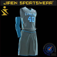 100% polyester men sublimation custom basketball jersey with short basketball jersey and short design