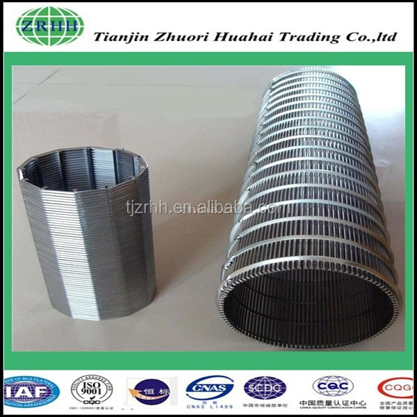 manufacturer recommend stainless steel Johnson V wedge screen wire mesh filter