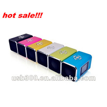 Hot LCD screen digital usb/TF card/ FM portable mini speaker for MP3/MP4/Laptop