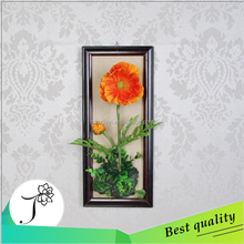 JY 2015 high quality artificial flower for wall decoration poppy flower