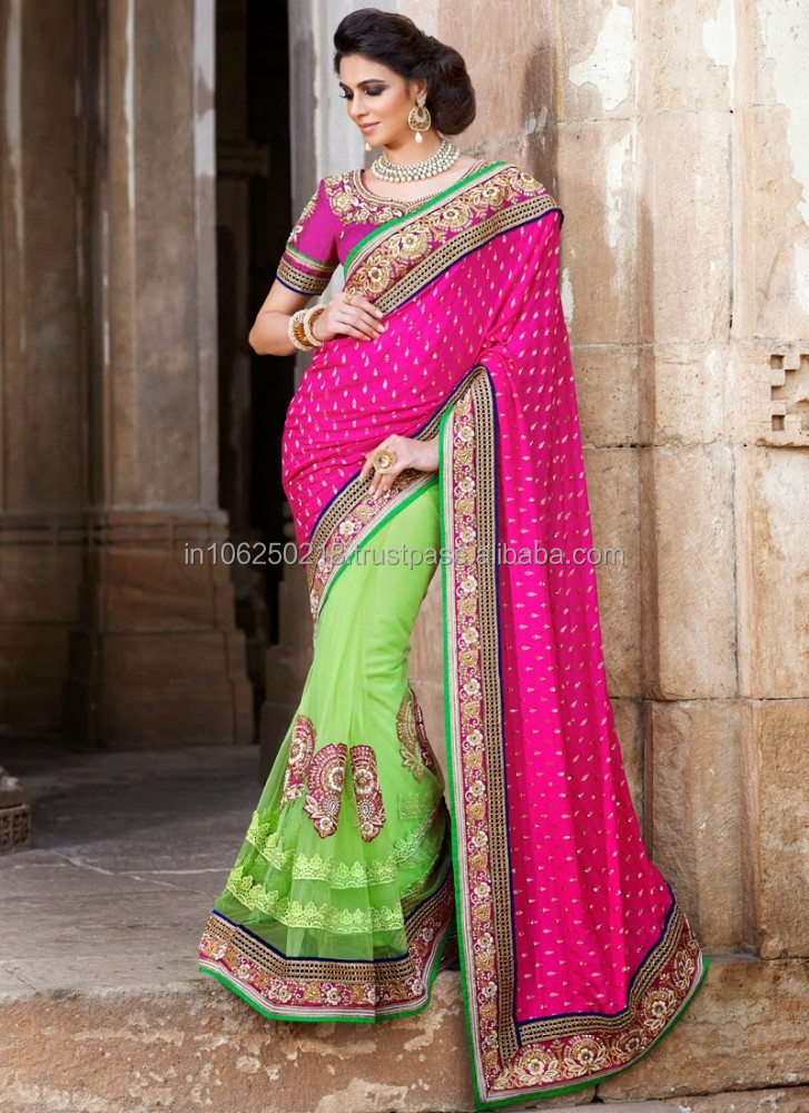 Wholesale indian embroidery designs bollywood saree R7606