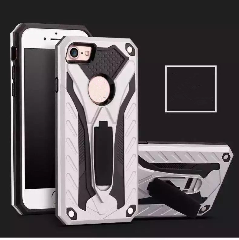 Premium Heavy Duty Shockproof Dual Layer Hybrid Armor Defender Full Body Protective Thin Phone Case for iPhone SE