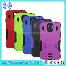 Wholesale PC+silicone 2 in 1 kickstand armor combo case for IPAD MINI
