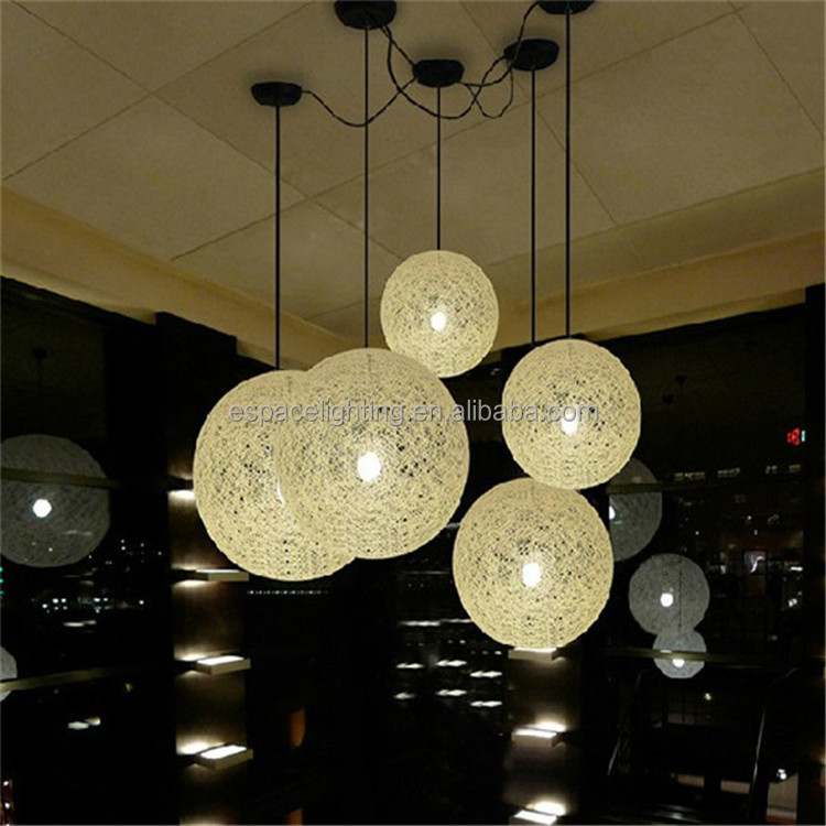 2015 best selling new products large ball light fixture rattan hanging pendant lamp