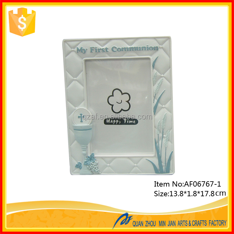 China Crafts Suppliers First Communion Gifts Souvenirs With Photo Frame Design