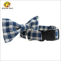 Blue Plaid Dog Bowtie, Dog Bow tie for Collar, Bow Tie Dog Collar Accessory