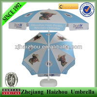 advertisement parasol promotional beach umbrella with custom printed