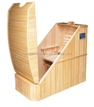 half body imported hemlock ozone far infrared half body sauna with dual panel