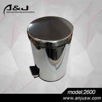 3/5/12/20/30L Slow Closing Garbage Stainless Steel Foot pedal Trash Bin Sanitary Bin