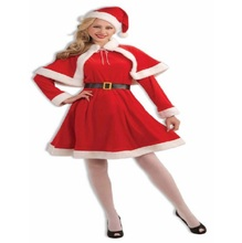 Fancy Factory Direcy Sexy Girl Santa Clause Suit with Reasonal Price