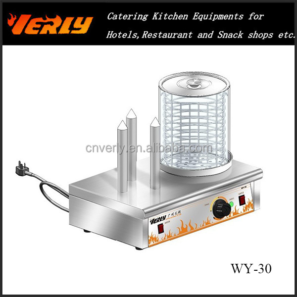 New condition commercial electric sausage roller grill/Hamburger warmer/Hot dog Bread warmer WY-30