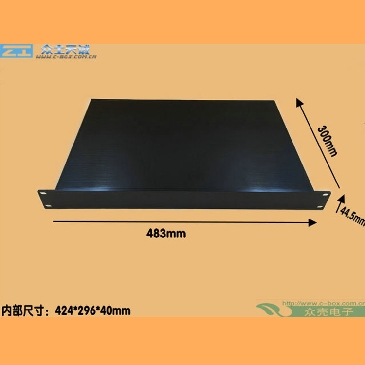 1U/44.4x483x200mm19 inch full aluminum case/19 inch Model U chassis aluminum enclosure