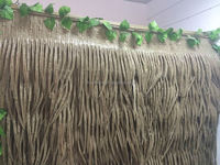Natural looking recyclable synthetic palm thatching roof for tiki hut/park/gazebo