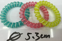 H005-004 Random Color Multicolor Fashion Telephone Line Girls Rubbers