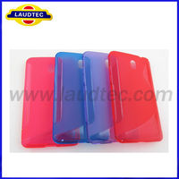 New products 2013 Clear S line tpu case for HTC Desire 609d New Case for HTC Desire 609d -Laudtec