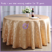 MT0029X gold wholesale jacquard hotel dinning linen table cloth