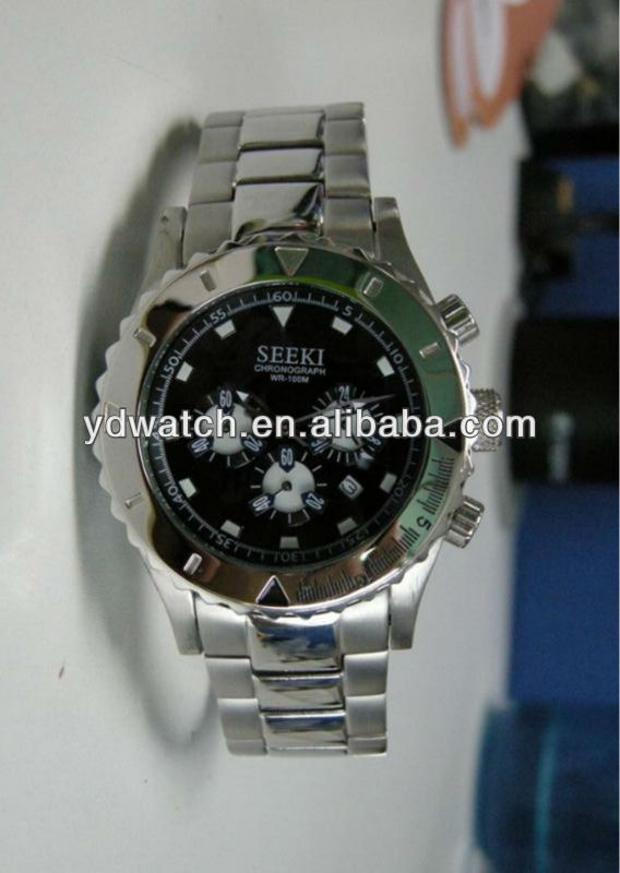 10 ATM chronograph stainless steel gift wrist watch men