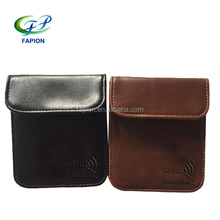 leather RFID blocking key fob covers