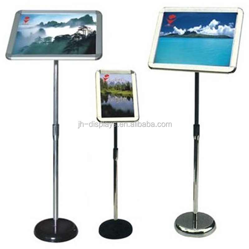A3 Size Adjustable Poster Display Stand With Snap Frame
