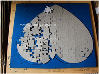 Jigsaw puzzle die/jigsaw puzzle steel rule die heart shape 300x260-80pcs Standard design/custom die