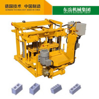 Dongyue moving hollow manual concrete block making machine online for sale