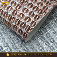 High quality faux pu embossed crocodile leather